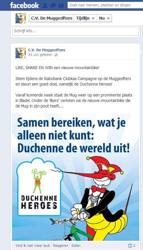 facebook mountainbike actie RCC 2013