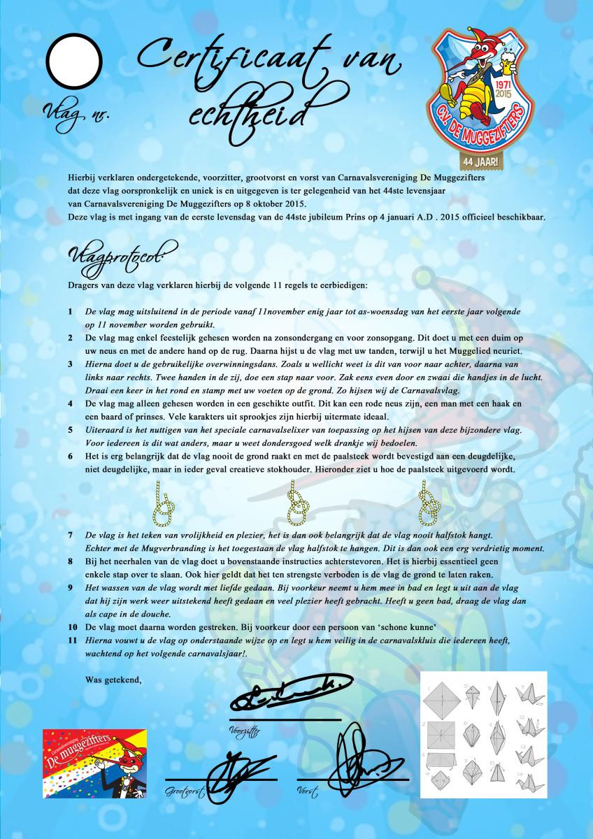 Vlag protocol Muggen